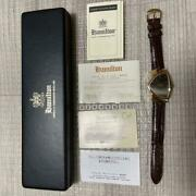 Vintage Hamilton Ventura 6250a Watch Analog With Case Instructions Card