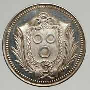1854 France Macon Savings Bank Founding Old Antique French Silver Medal I94289
