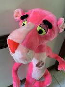 Vintage 1980 Pink Panther Plush Stuffed Large Mighty Star Made In Korea 40 Inch