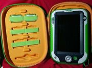 Leap Frog Leappad Xdi Ultra Case Console Tablet Green Explorer W/ 2 Games Reset