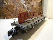 American Flyer C And N W.r.y. Flat Car No 42597 With Steel Beam Load  5-94-5