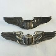 Us Army Airforce Pilot Wing Pinback Pins 2-pieces 3-inch Long