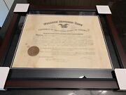 President William Howard Taft Autographed Signed Document Autograph Auto Framed