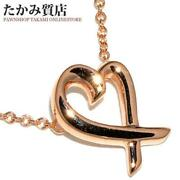 And Co. Rubbing Heart Pendant Paloma Picasso K18pg Ladies Pre-owned[b0811]