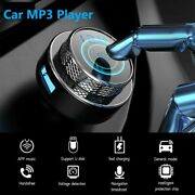 Wireless Bluetooth 5.0 Car Fm Transmitter Mp3 Player Radio 2 Usb Charger Adapter