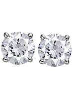 5/8 Cttw Round Certified Diamond Stud Earrings 14k White Gold Christmas Special
