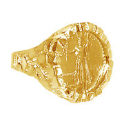 American Eagle Coin In -14k Nugget Ring 14k Yellow Gold