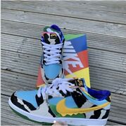 Size Uk 9 - Nike Sb Dunk Low Ben And Jerryand039s Chunky Dunky Black/gold/lagoon...