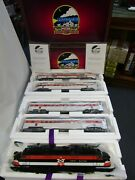 Mth 20-5666-1 New Haven Ep-5 Set With 4 Streamlined Passenger Cars Pre Owned