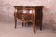 John Widdicomb French Louis Xv Faux Tortoise Shell And Giltwood Bombay Chest