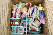 Grab Box Lot Fisher Price Loving Family Dollhouse Furniture Accessories And Dolls