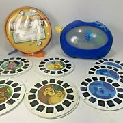 Blues Clues Viewmaster Lot Of 15 Reels Storage Case Dora Little Bear Lion King