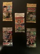 5 X Pokemon Japanese Collectible Cards. All Unopened Packs 1995-1999