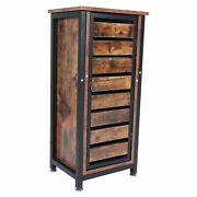 Night Table Antique Brown Sofa Side Tables Retro Industrial Standing Cabinet