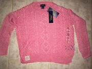 Polo Pink Knit Sweater New With Tags, Girls S7