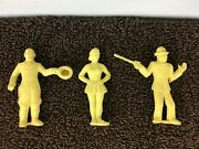 3 Marx Super Circus 1950's Figures Playset The Big Top Performers Lot A13