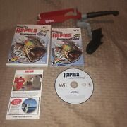 Vgc Nintendo Wii Fishing Rod And Rapala Tournament Game Complete Tested