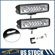 2pc 6inch 18w Led Work Light Bar 4wd Offroad Spot Pods Fog Atv Suv Driving Lamp