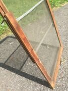 Vintage Window Screen Farm Camp Victorian Home Wood Frame Antique House Screen