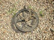 Antique White Treadle Sewing Machine Flywheel With Guard
