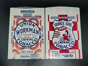 Yankee Girl And Union Workman Chewing Tobacco 3 Oz Pouches Scotten Dillon Company