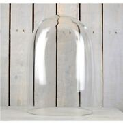 Handmade Mouth Blown Clear Oval Glass Display Cloche Bell Dome 50 Cm