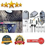 Camping Cooking Utensils Set Camp Kitchen Equipment Portable Picnic Cookware Kit