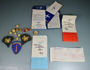 Us Vietnam Button Ribbon Patch Rank Airline Ticket Named Grouping 1968 S382