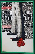 Slap The Monster On Page One Signed Cuban Reboiro Silk-screen Italy Movie Poster