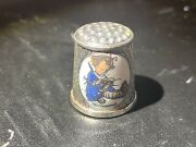 1983 First Edition Hummel Ars Silver Plated Versilbert Germany Thimble
