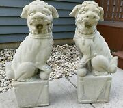 Rare Pair Of Foo Dog /guardian Lion Statues 32 Tall - Local Pickup Chicago
