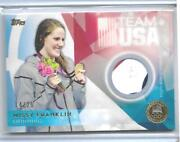 Sweet 2016 Topps Olympic Missy Franklin Gold 3 Color Relic Card /25 Usa Swimming