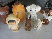 Vintage Lot Toy Banks Plastic Reliable And Regal Canada Eskimo Terrier Dalmation
