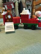 Fisher Price Little People Musical Christmas Train Santa Mrs Claus Reindeer 6pc