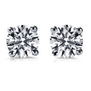 Andpound7400 Real 1.99 Carat Diamond Earrings For Boys 14ct White Gold I2 63251210