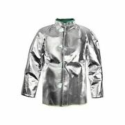 National Safety Apparel C22nl Carbon Armour Silvers Nl 30 Aluminized Coat Md-xl