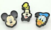 Mickey Mouse Donald Duck And Goofy 3d Magnet Bag Clip Set Of 3 Moving Eyes Etc.