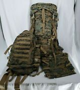 Usmc Marpat Ilbe Gen 2 - Main And Aslt. Pack/cover/radio Pouch/waist Belt Complete