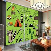 Squirrel And Great Owl 3d Blockout Photo Print Curtain Fabric Curtains Window