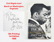 Signed John Lewis 1st Ed Walking With The Wind Civil Rights Mlk Georgia Congress