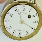 Antique 18th C.silver Ball Shaped Verge Fusee Pocket Watch Made For The Vatican