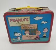 Vintage Peanuts 1973 Metal Lunchbox No Thermos Charles Schulz King-seeley Usa