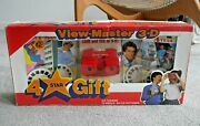 Viewmaster 3d 4 Star Gift Set Red Model J Viewer And 4 Reel Packets 1983 Rare J204