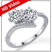 Andpound4800 Christmas 1.28 Carat Ever Us Diamond Ring White Gold 14ct Si1 46251421