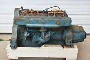 1950and039s Chris Craft Model K Flathead Six Motor And Transmission