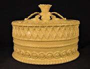 Extremely Rare 1860 Davenport Signed Highly Decorated Game Dish Yellow Ware