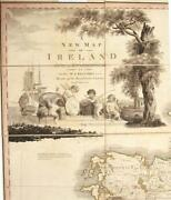 Original Antique Beaufortand039s A New Map Of Ireland Civil And Ecclesiastical 1797