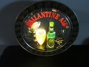 Ballantine Ale Beer Sign Bubbler Vintage 50's Brewed With Brewer's Gold' Rare