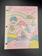 New Vintage 1976 1983 Sanrio Little Twin Stars College Ruled Notebook