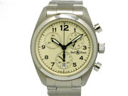 Wristwatch Bell•ross Chronograph Military Design Boyand039s Used Silver Quartz 34mm